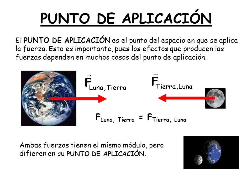 FLuna, Tierra = FTierra, Luna