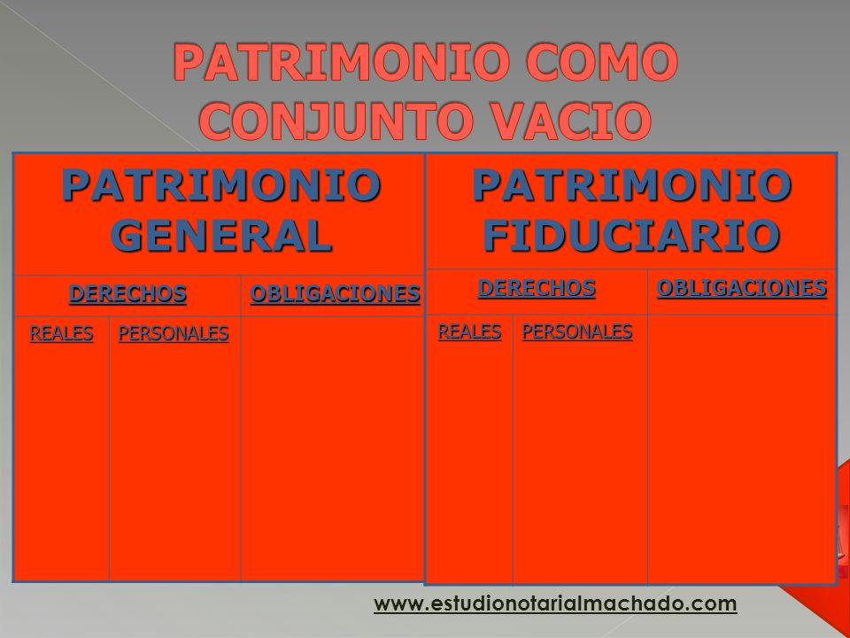 PATRIMONIO COMO CONJUNTO VACIO