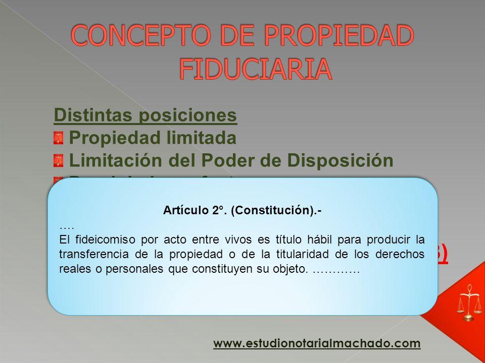 CONCEPTO DE PROPIEDAD FIDUCIARIA
