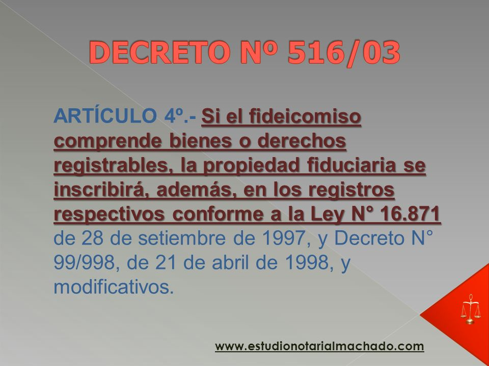 DECRETO Nº 516/03