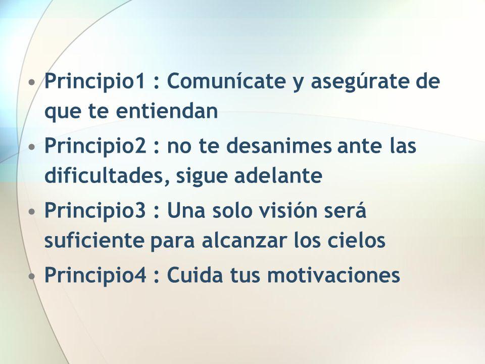 Principio1 : Comunícate y asegúrate de que te entiendan
