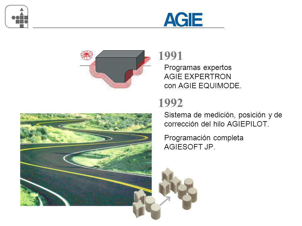 1991 1992 Programas expertos AGIE EXPERTRON con AGIE EQUIMODE.