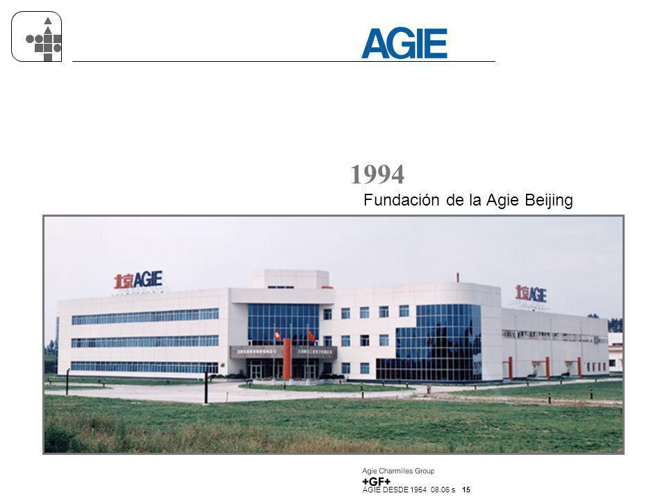 1994 Fundación de la Agie Beijing