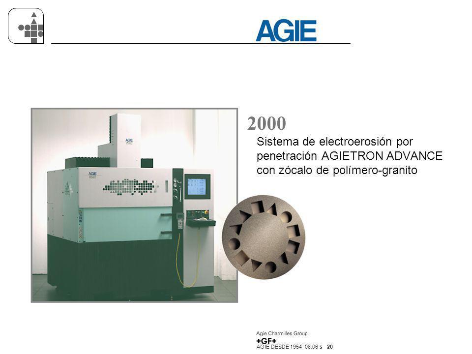 2000 Sistema de electroerosión por penetración AGIETRON ADVANCE con zócalo de polímero-granito