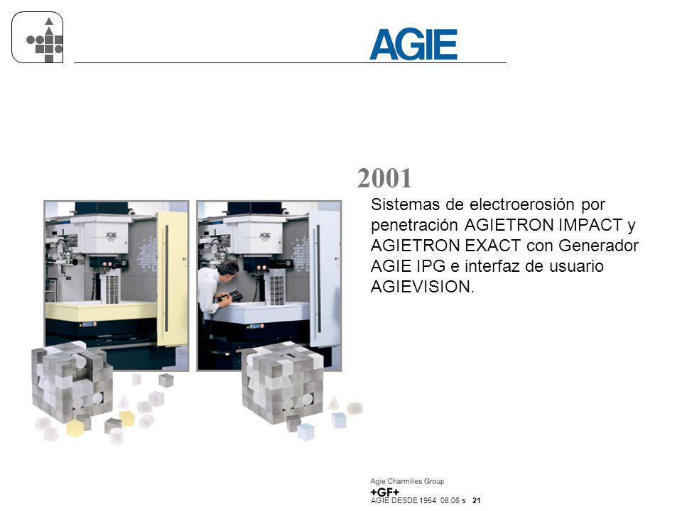 2001 Sistemas de electroerosión por penetración AGIETRON IMPACT y AGIETRON EXACT con Generador AGIE IPG e interfaz de usuario AGIEVISION.
