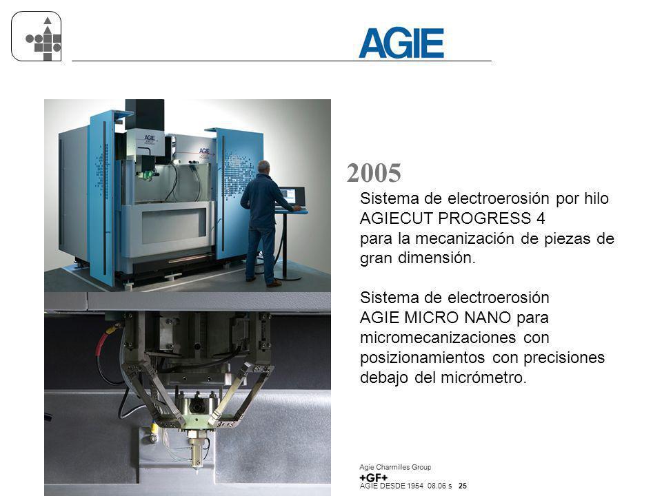 2005 Sistema de electroerosión por hilo AGIECUT PROGRESS 4 para la mecanización de piezas de gran dimensión.