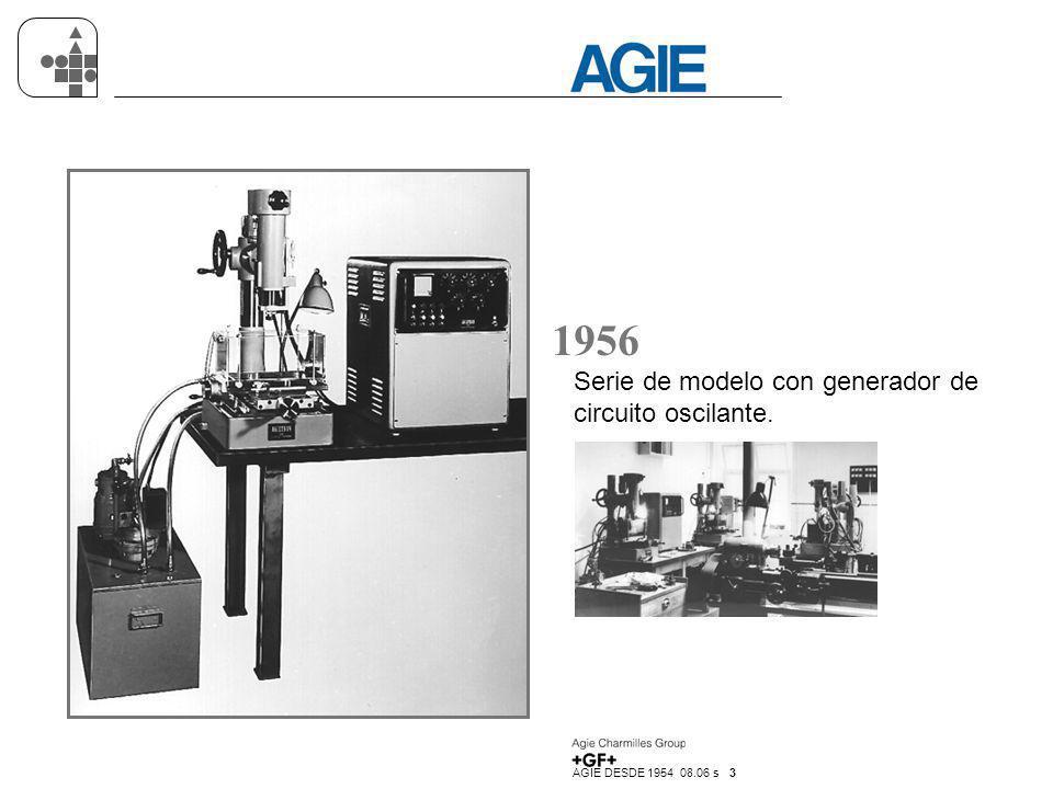 1956 Serie de modelo con generador de circuito oscilante.