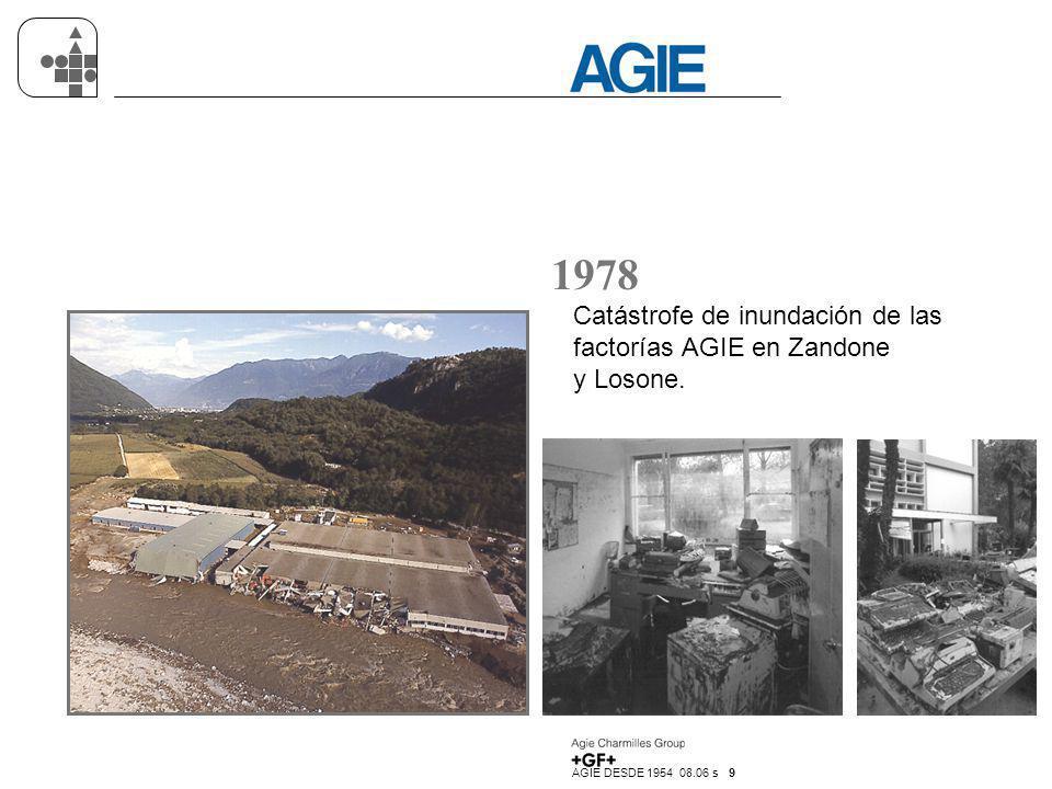 1978 Catástrofe de inundación de las factorías AGIE en Zandone y Losone.