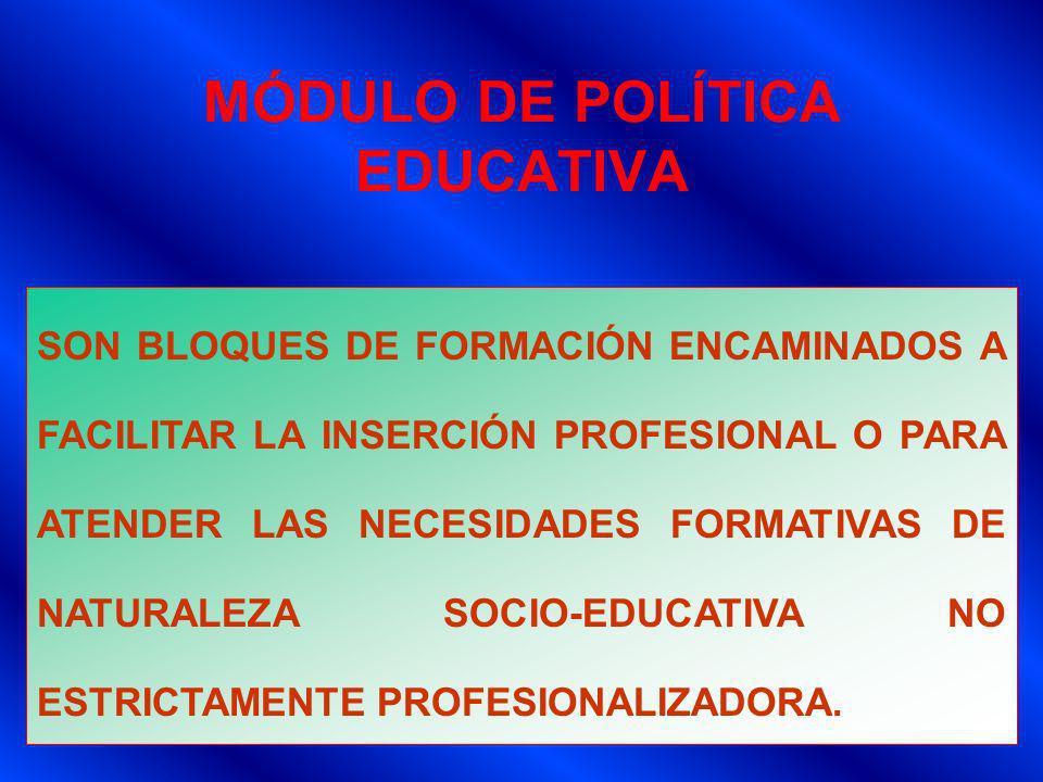 MÓDULO DE POLÍTICA EDUCATIVA
