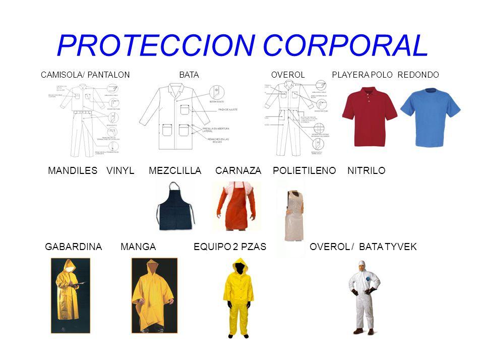 PROTECCION CORPORAL CAMISOLA/ PANTALON BATA OVEROL PLAYERA POLO REDONDO.