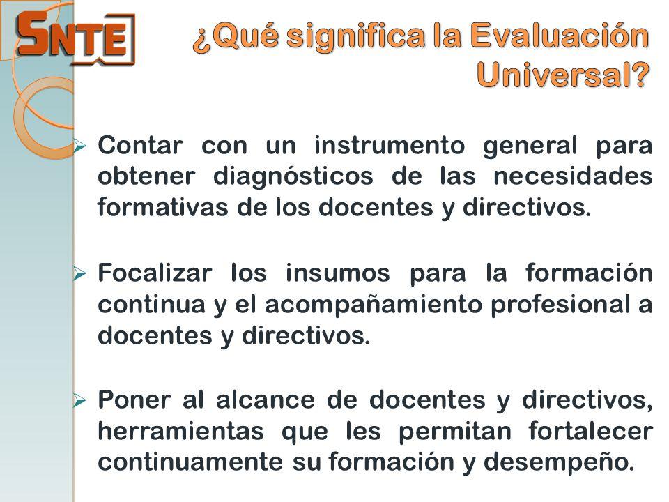 ¿Qué significa la Evaluación Universal