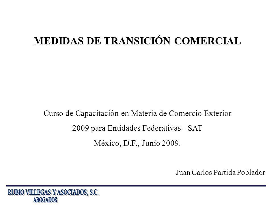MEDIDAS DE TRANSICIÓN COMERCIAL