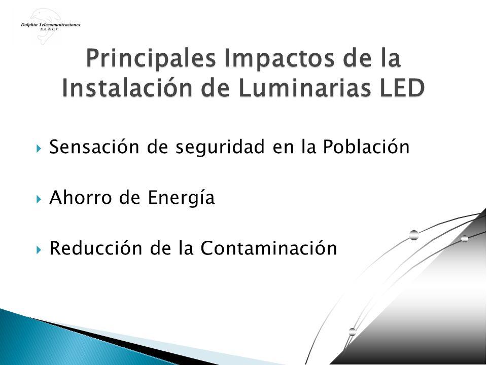 Principales Impactos de la Instalación de Luminarias LED