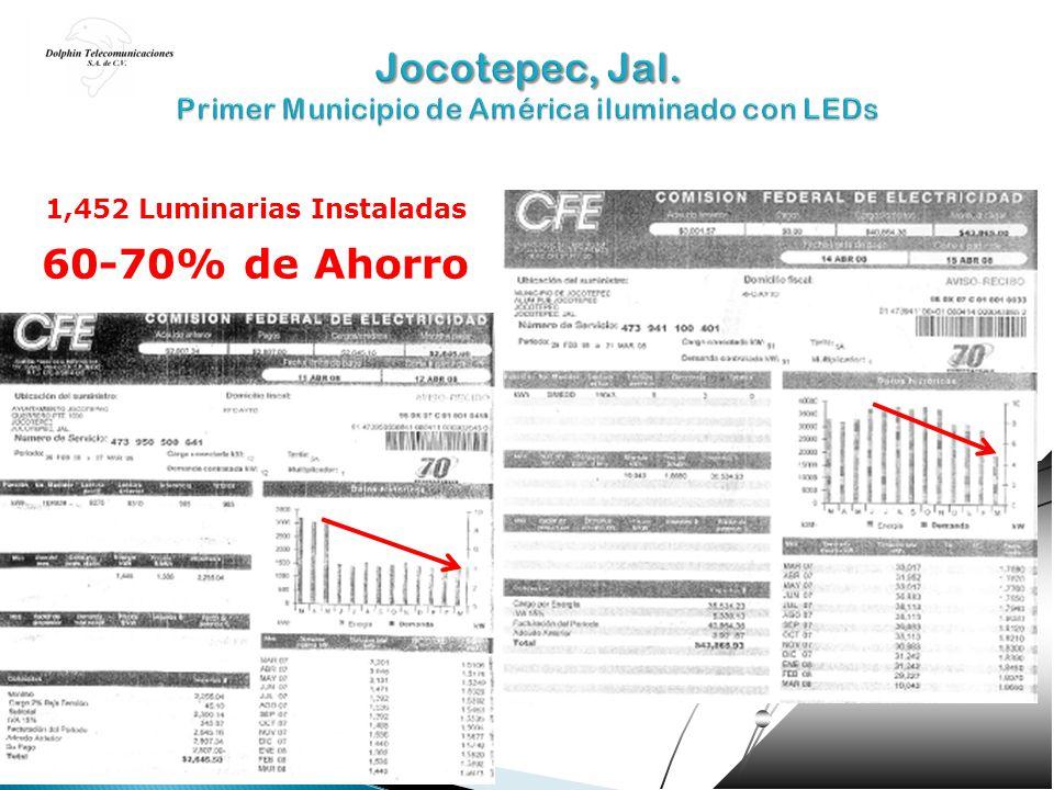 Jocotepec, Jal. Primer Municipio de América iluminado con LEDs