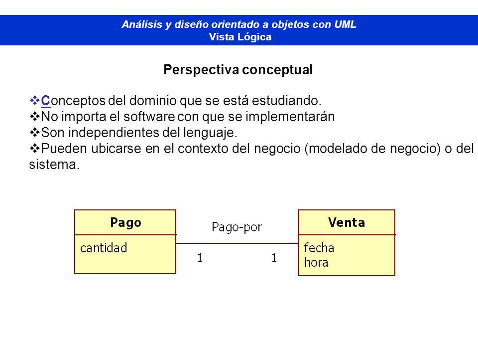Análisis y diseño orientado a objetos con UML Perspectiva conceptual
