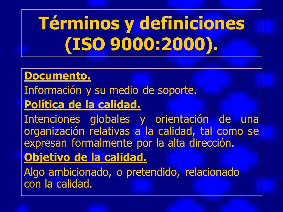 Términos y definiciones (ISO 9000:2000).