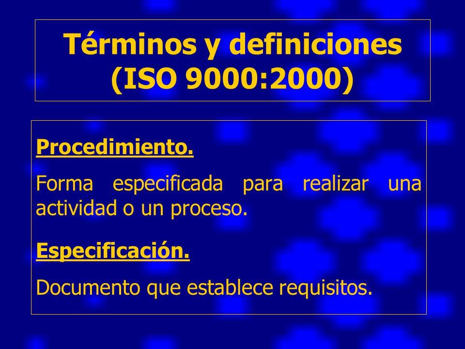 Términos y definiciones (ISO 9000:2000)