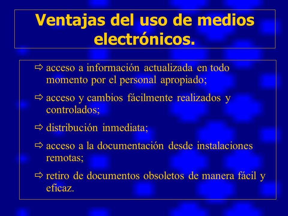 Ventajas del uso de medios electrónicos.