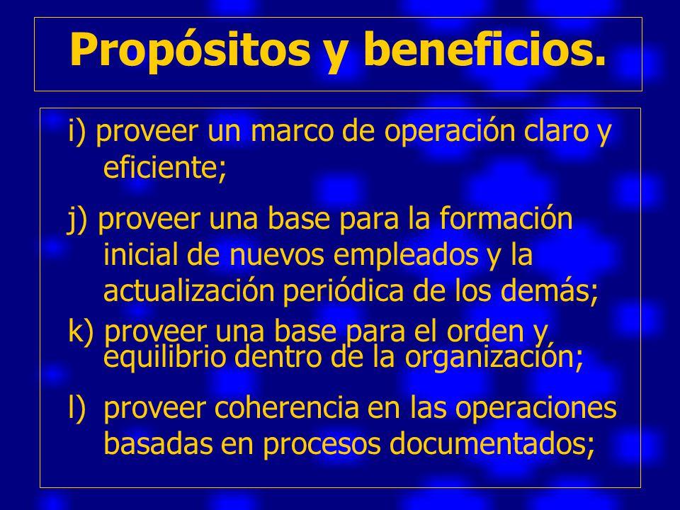Propósitos y beneficios.