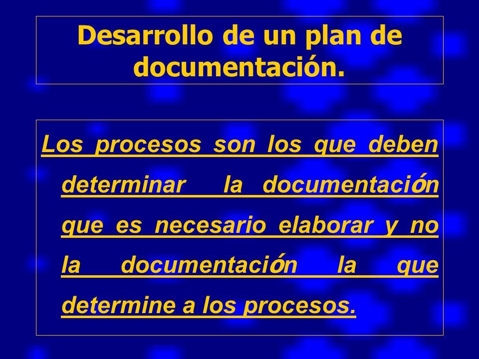 Desarrollo de un plan de documentación.