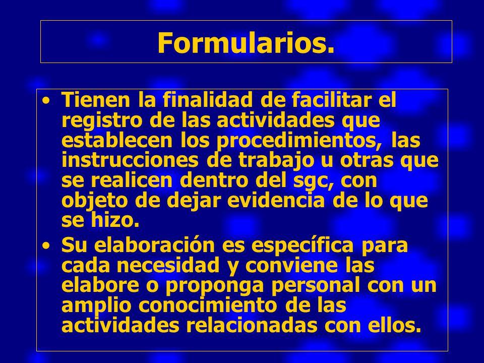 Formularios.