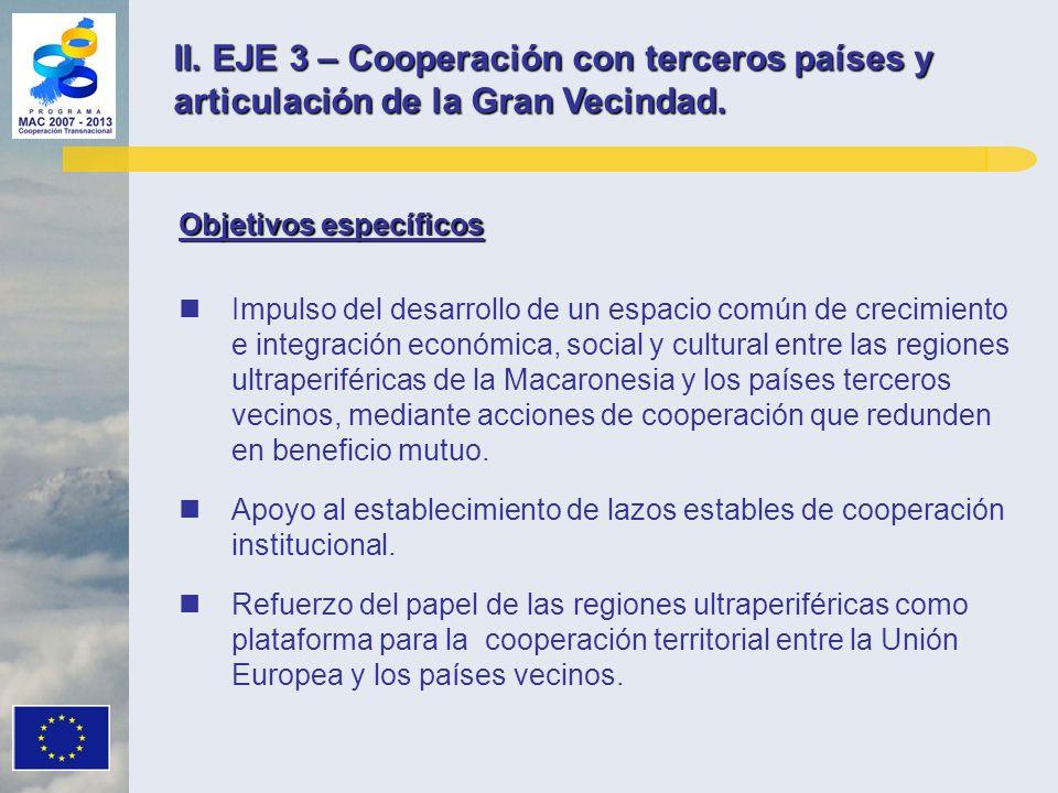 II. EJE 3 – Cooperación con terceros países y articulación de la Gran Vecindad.