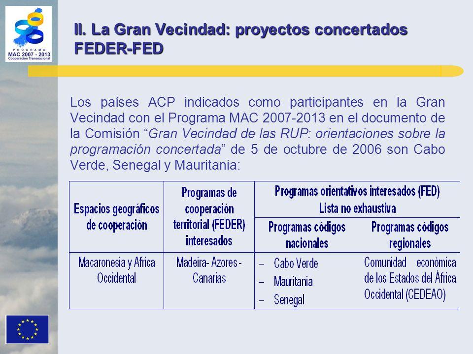 II. La Gran Vecindad: proyectos concertados FEDER-FED