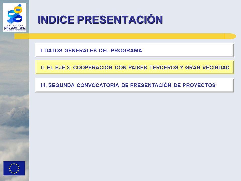 INDICE PRESENTACIÓN I. DATOS GENERALES DEL PROGRAMA