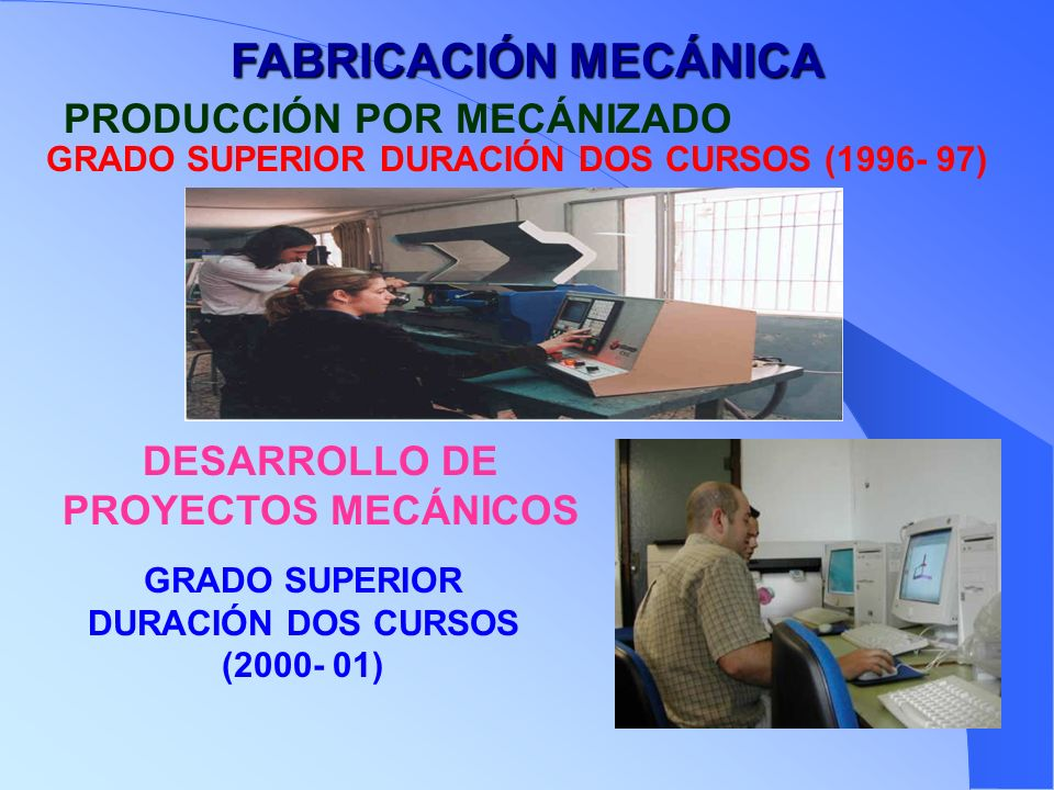 FABRICACIÓN MECÁNICA PRODUCCIÓN POR MECÁNIZADO
