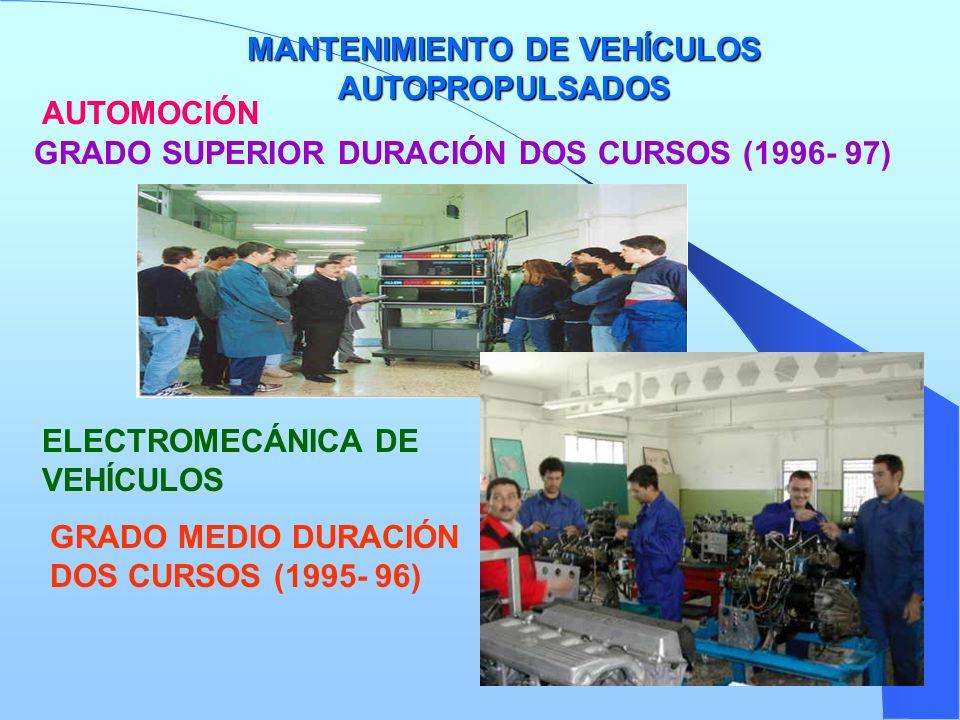 MANTENIMIENTO DE VEHÍCULOS AUTOPROPULSADOS