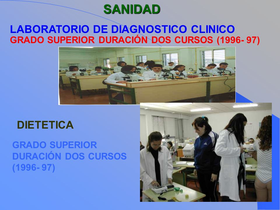 SANIDAD LABORATORIO DE DIAGNOSTICO CLINICO DIETETICA