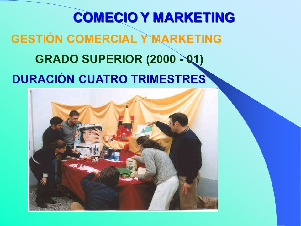 GESTIÓN COMERCIAL Y MARKETING DURACIÓN CUATRO TRIMESTRES