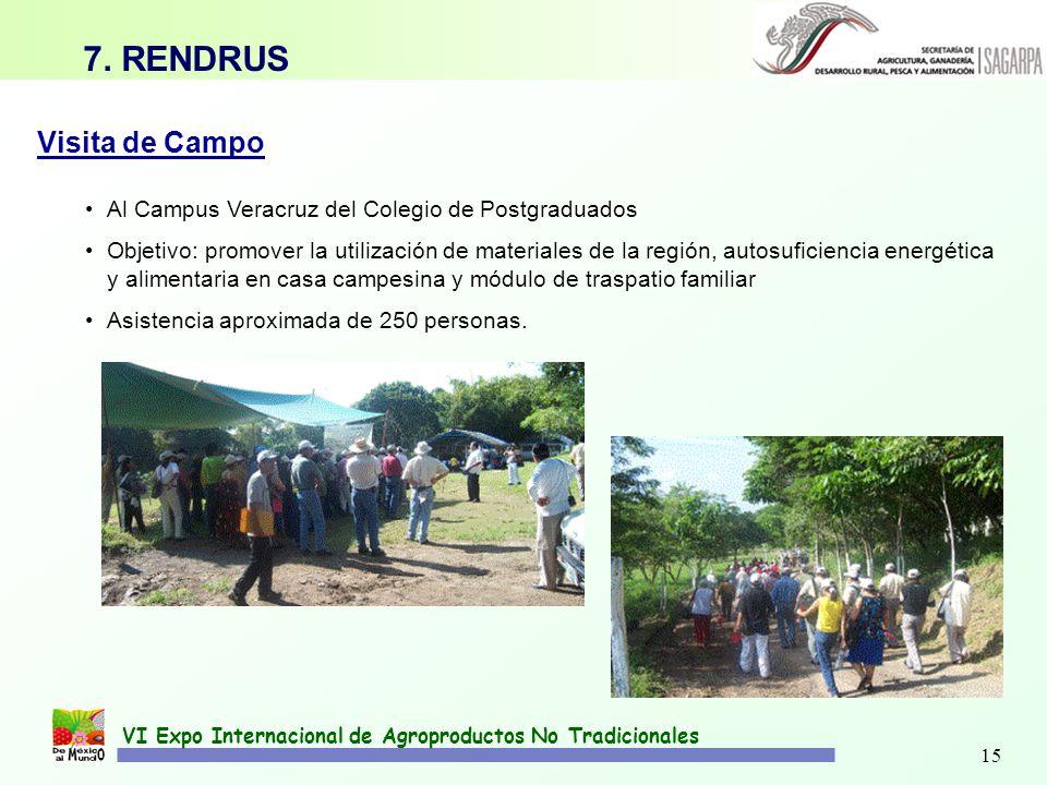 VI Expo Internacional de Agroproductos No Tradicionales