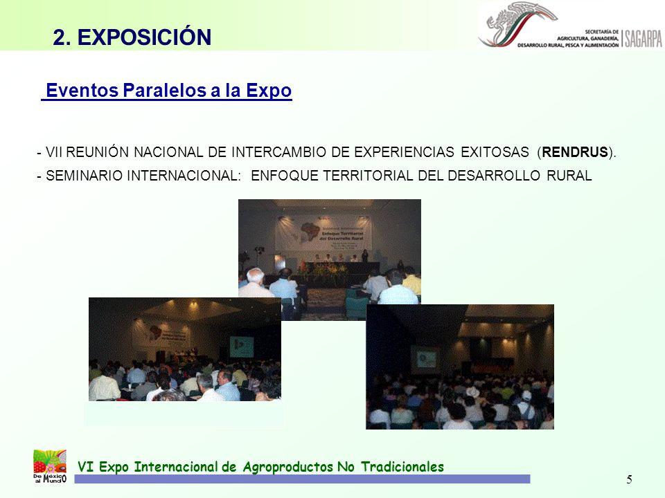 2. EXPOSICIÓN Eventos Paralelos a la Expo