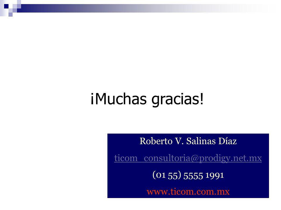 ¡Muchas gracias! Roberto V. Salinas Díaz