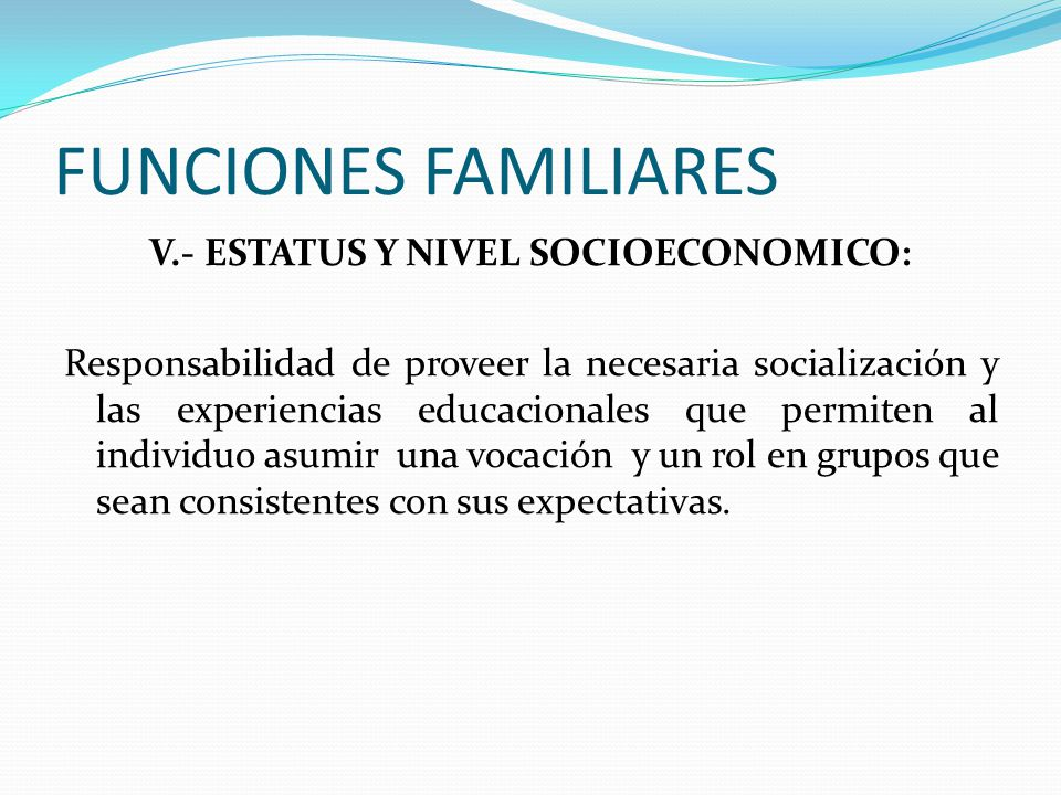 FUNCIONES FAMILIARES