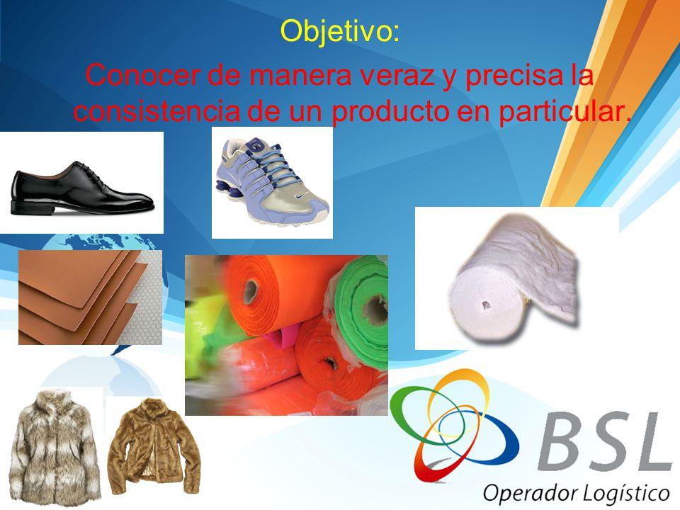 Objetivo: Conocer de manera veraz y precisa la consistencia de un producto en particular.