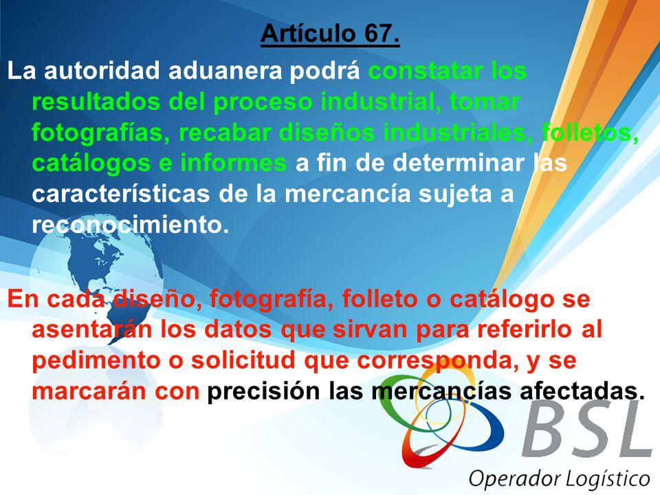 Artículo 67.
