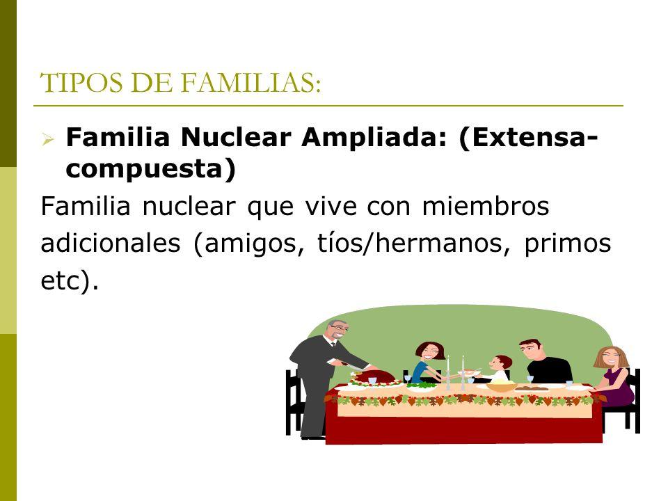 La familia como objeto de estudio i ppt descargar Tipos de familia nuclear