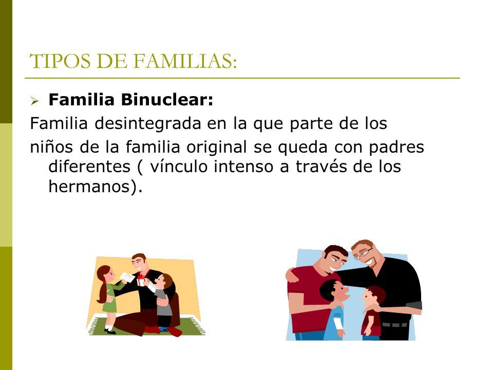 TIPOS DE FAMILIAS: Familia Binuclear: