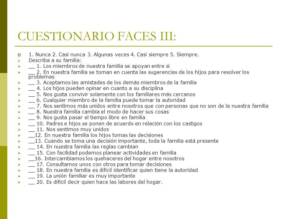 CUESTIONARIO FACES III: