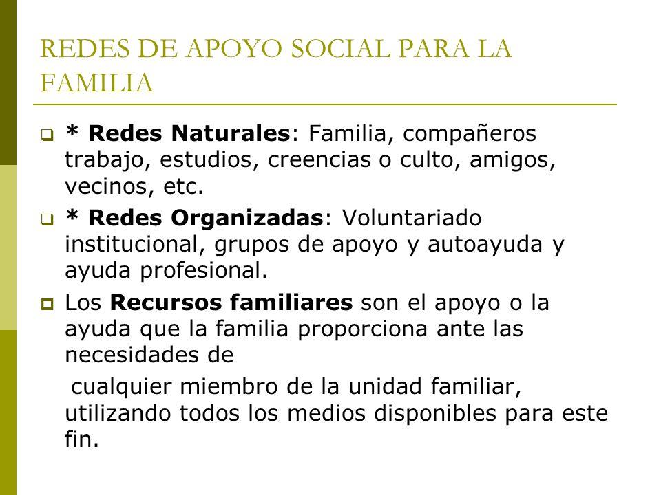 REDES DE APOYO SOCIAL PARA LA FAMILIA
