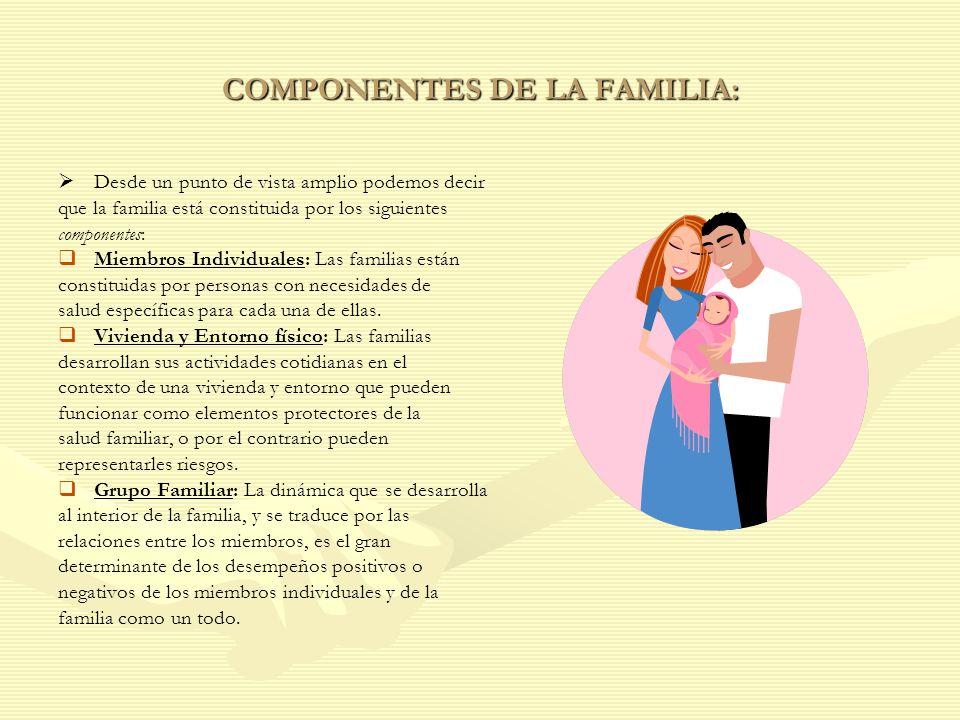 COMPONENTES DE LA FAMILIA: