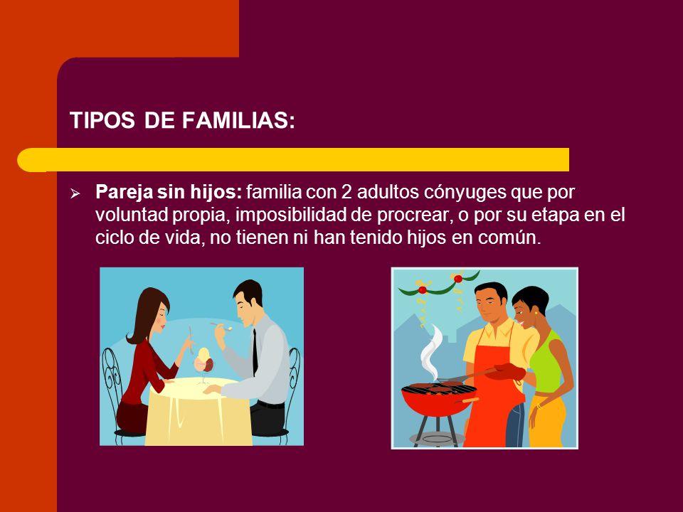 TIPOS DE FAMILIAS: