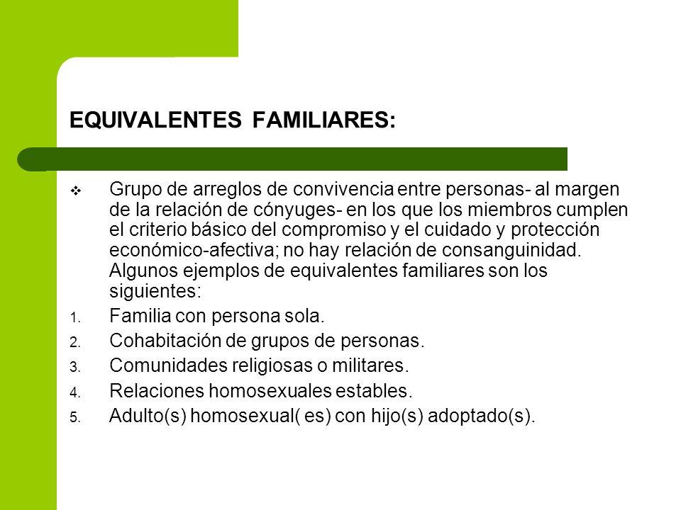 EQUIVALENTES FAMILIARES: