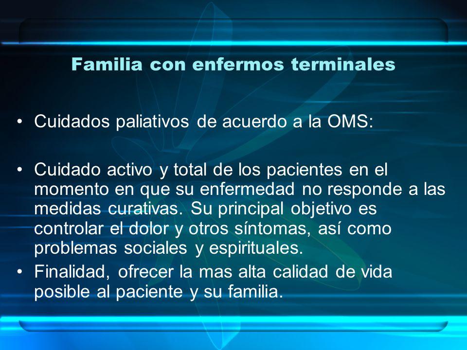 Familia con enfermos terminales