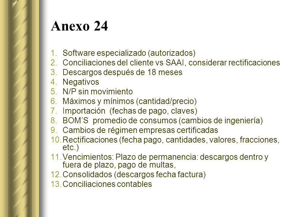 Anexo 24 Software especializado (autorizados)