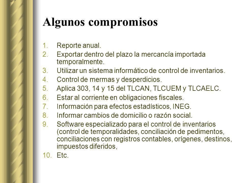 Algunos compromisos Reporte anual.