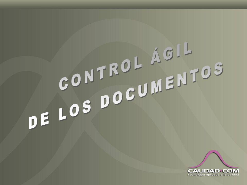 CONTROL ÁGIL DE LOS DOCUMENTOS