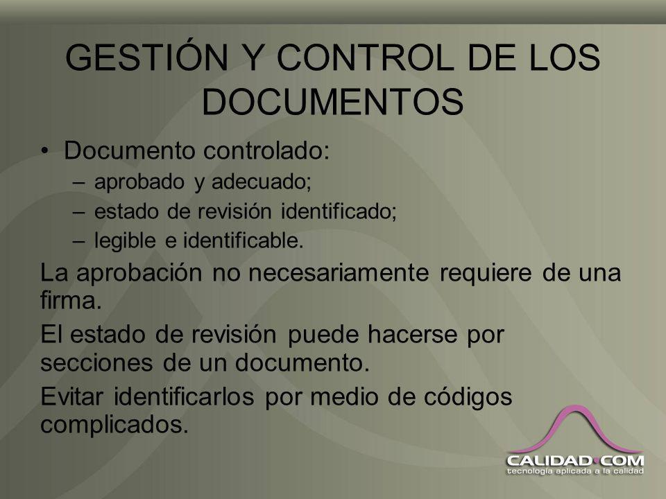 GESTIÓN Y CONTROL DE LOS DOCUMENTOS